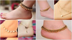 Kalyan Jewellers Anklets Designs With Price Gold Anklets And Leg Chains Simple Craft Ideas
