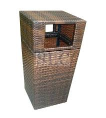 outdoor patio trash can outdoor wicker trash can wicker trash cans commercial outdoor trash can wicker