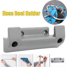 grey water hose reel holder wall mount garden hose storage pipe fixing bracket cod