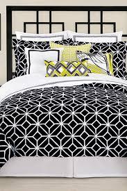 image of trina turk trellis twin xl comforter sham 2 piece set black