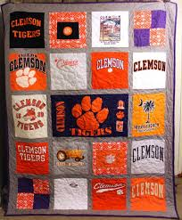 7 best t shirt quilts images on Pinterest | Architecture ... & Custom T-Shirt Quilt | Clemson Tigers | Great Holiday or Graduation gift! Adamdwight.com