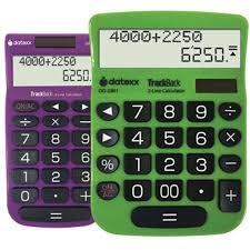Datexx Combo Pack Dd 2361 Trackback Desktop Calculator And Dh 2202 Trackback Handheld Calculator