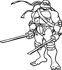 Small Picture Coloring Pages Ninja Turtle Two Blade Leonardo Coloring Page