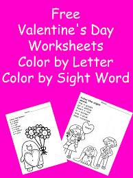 2 Valentine Day Worksheets -Color by Letter/Sight Word ...