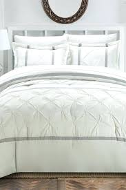 image of pinch pleat duvet cover set white pintuck canada