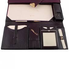 leather desk correspondence case