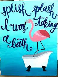 flamingo bathroom accessories decor ideas canvas art and bath set