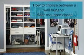 wall hung vs a floor mounted closet