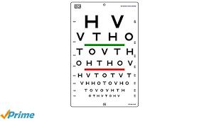 20 20 Vision Chart Amazon Com Hotv Visual Acuity Color Vision Chart 20 Feet