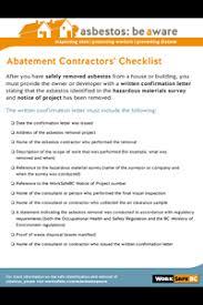 Contractor Checklist Worksafebc