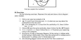 Venn Diagram Problems And Solutions Problem And Solution Worksheets How To Read A Venn Diagram With 3
