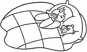 Kind Bidt In Bed Kleurplaat Gratis Kleurplaten Printen