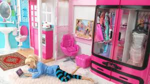 Barbie Bedroom House Morning Routine Barbie Scooter Puppy     Barbie Quarto Casa