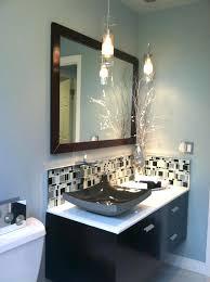 pendant lighting bathroom vanity black sink under modern crane closed simple mirror on plain wall paint and white closet floor plus amusing pictures of pen