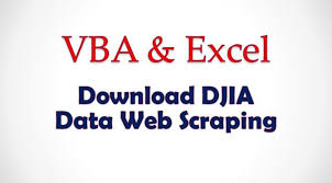 Vba Project Download All Djia Stock Information Data Dow