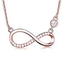 LOCHING Fashion <b>Hollow</b> Infinity symbol <b>inlaid Zircon</b> 925 Sterling ...