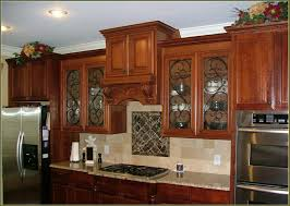 decorative glass kitchen cabinets berlanddems us