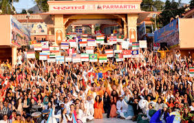 photo essay international yoga festival yoga in participants from over 100 countries converged on the banks of ganga for this year s international yoga festival