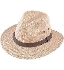 henschel men s burlap with genuine leather band outback hat natural ca12gxqgzvj