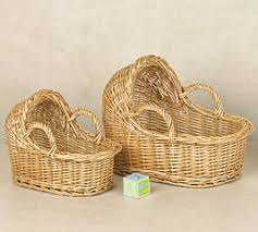 Wicker Baby Bassinet Table Center Piece - Baby Shower Decoration ...
