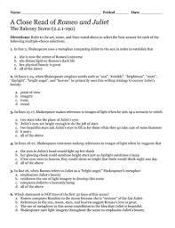 english ish shop teaching resources tes shakespeare s romeo and juliet balcony scene close exam quiz act 2 scene 2
