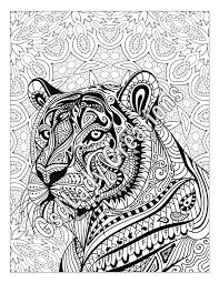Small Picture Zen Tiger Animal Art Page To Color Zentangle Animal Zentangle