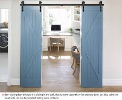 12ft antique country style double sliding barn door closet bedroom hardware set
