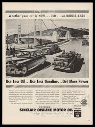 1948 sinclair opaline motor oil vine ad golden gate bridge art