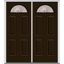 Double Swing Doors Mmi Door 72 In X 80 In Heirloom Master Left Hand Fan Lite 4