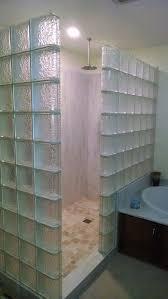 Bathroom: Darry Brown Glass Blocks Shower Decor Bathroom Ideas - Glass  Block Wall Shower