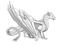 template of a dragon wings of fire icewing sandwing hybrid template dragons in 2019