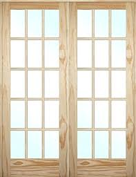 interior wood doors tall lite pine interior interior solid wood door with glass insert