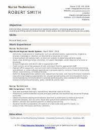 Nurse Technician Resumes Nurse Technician Resume Samples Qwikresume
