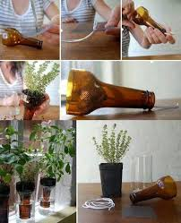 view in gallery wine bottle planters wonderfuldiy1 wonderful diy cutting glass bottles for self watering planter