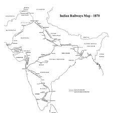 map of indian railways 1870
