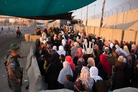 photo essay crossing qalandia and the wall during ramadan  women queue at qalandia checkpoint around 5am on their way into jeru m for friday prayers