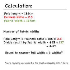 Drapery Fullness Chart Pencil Pleat Curtain How To Calculate Fabric Quantities