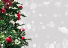 Falling Christmas Tree Lights Christmas Tree Closeup With Room For Text In Falling Snow And