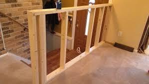 diy half wall room divider securing a half wall building construction diy chatroom diy