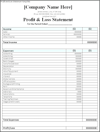 Excel Statement Profit And Loss Restaurant Financial Template Income