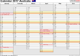 template 5 2017 calendar australia for pdf months horizontally 2 pages days