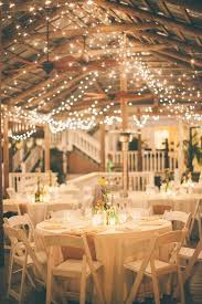 wedding table lighting. Country Wedding Reception Ideas- Burlap For The Table Runners And Xmas Lights All Over Lighting