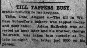 George and Adam Ballreich rob a bakery Aug 5 1913 Cincinnati Enquirer -  Newspapers.com