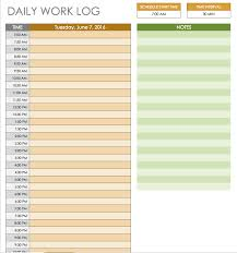 excel work log template daily work log template microsoft excel free daily schedule