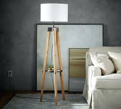 wooden tripod lamp stand wood floor