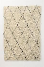 Contemporary Area Rug from Anthropologie, Model: Black and White