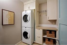 ... Stacked Washer Dryer Storage Built In With Custom Wooden Cabinet Wine  Cabinets Where Knee Wall Is