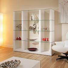 sentinel display cabinet glass shelves shelf white oak wood modern curio m39c