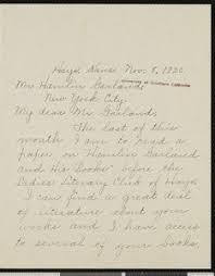 Annabelle Sutton, letter, 1920-11-08, to Hamlin Garland — Calisphere