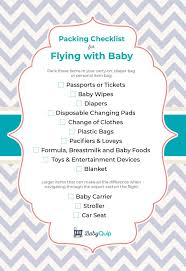 baby item checklist packing checklist for flying with baby babyquip